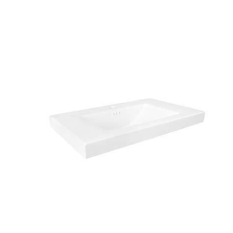 Ronbow Vanity Top by Ronbow Evin 32 In W Ceramic Vanity Top In White With