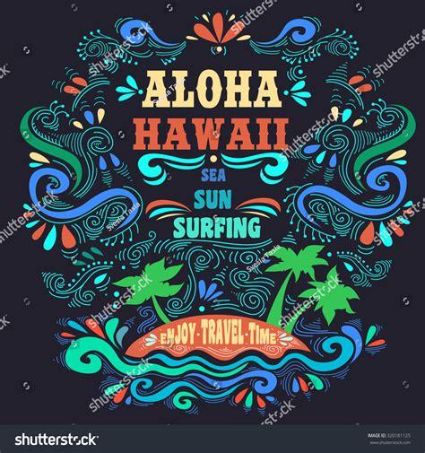printable typography art typography art ethnic typography poster aloha stock vector