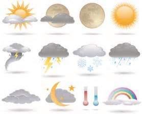 different weather icons vector set 01 other icons