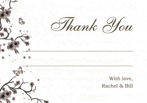 engagement thank you card template enjoy ideas wedding thank you card template framed flower