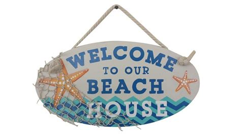 where to buy a beach house buy wooden welcome to our beach house sign 15 inch nautical decor