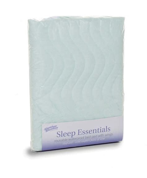 washable bed pads washable waterproof bed pad with wings from slumberslumber com