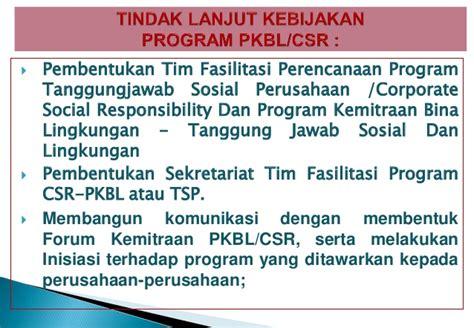 masalah pengelolaan program corporate social potensi dan kriteria usulan program dan kegiatan melalui csr