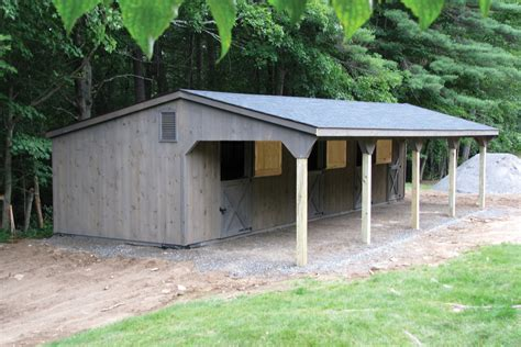 post beam barns run in shed row rancher with