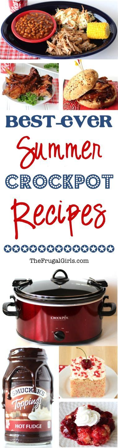 summer crockpot recipes the frugal girls bloglovin