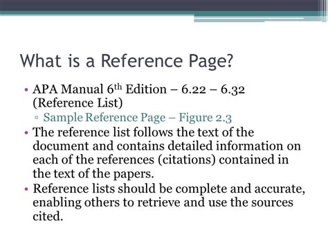 Reference List The Sources Used At The End Of The Essay by Apa Reference Page Dr Gustafson Ppt