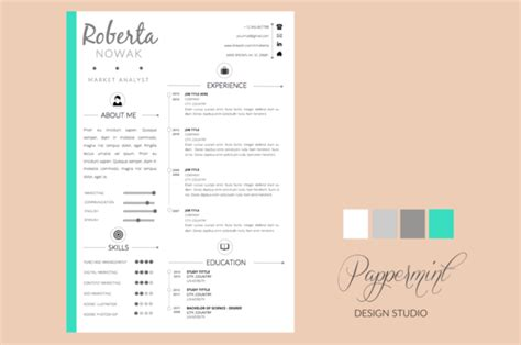 resume word template creative resume template cover letter word resume templates on creative market