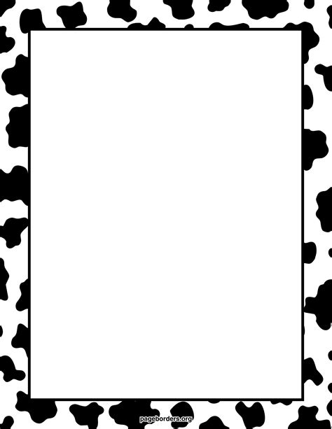 cow pattern frame cow print clip art cliparts co