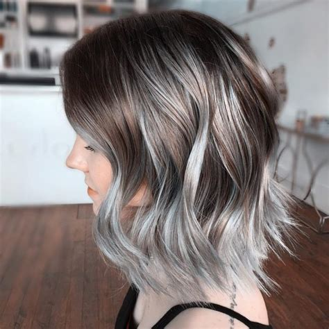 silver and brown hair style 21 ombre grey hair looks cherrycherrybeauty