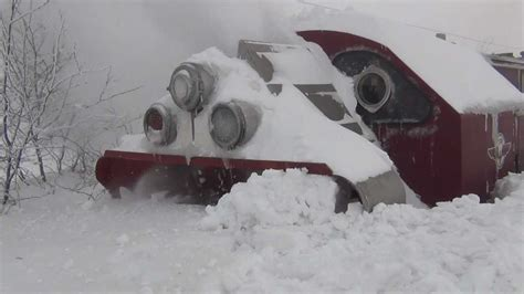 The Biggest Blizzard by Biggest Snowfall Vs Train Snowblower Hd 1080p Youtube