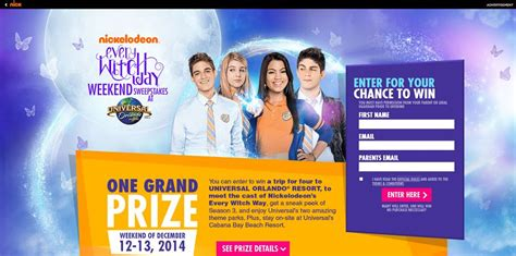 Www Nick Com Sweepstakes - every witch way weekend sweepstakes nick com universal meet the cast of
