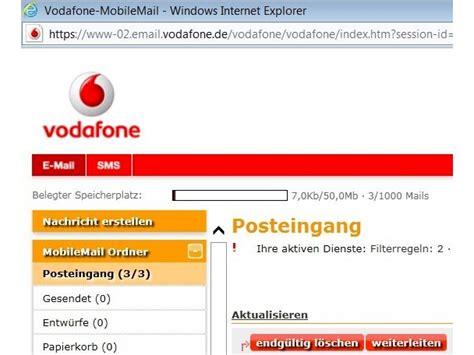 vodafone mail mobile aufgefrischt vodafone erweitert kostenloses e mail