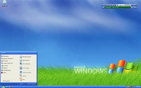 how to create a windows xp toolbar and start menu page 2