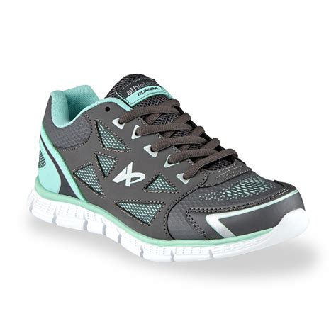 sears womens athletic shoes athletech s dash gray aqua running shoe shoes