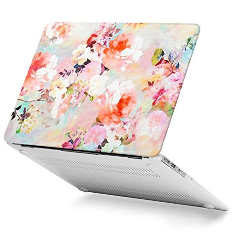 Pattern Floral For Macbook Air 13 Terpercaya gmyle rubber coated frosted plastic shell cover print for macbook air 13 inch model