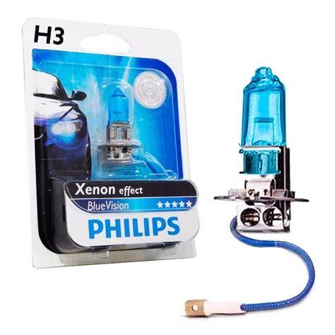 Lu Philips Blue Vision Moto lada h3 philips blue vision efeito xenon 4000k carro moto
