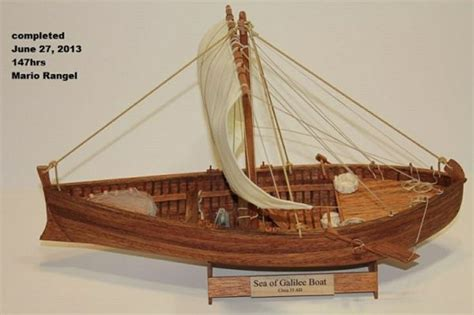 fishing boat in jesus time sea of galilee israel model of a first century galilean