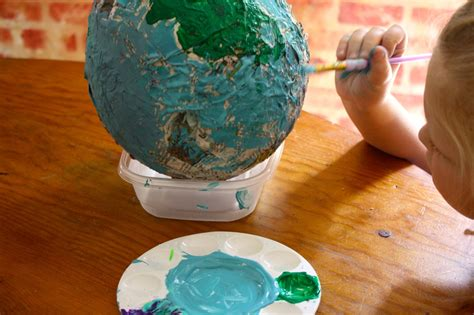 How To Make Paper Globe - paper mache globe hodgepodge