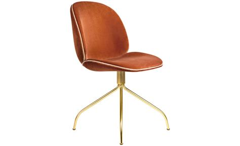 Upholstered Swivel Dining Chairs Beetle Upholstered Dining Chair With Swivel Base Hivemodern