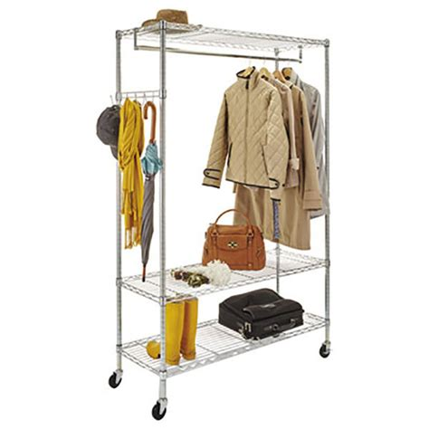Alera Wire Shelving Garment Rack by Alera Alegr364818sr 48 Quot X 18 Quot X 75 Quot Silver Wire Shelving