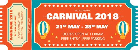 ticket template for apple pages carnival event ticket design template in psd word
