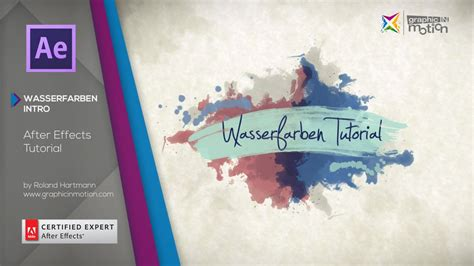 watercolor reveal tutorial wasserfarben reveal intro after effects tutorial