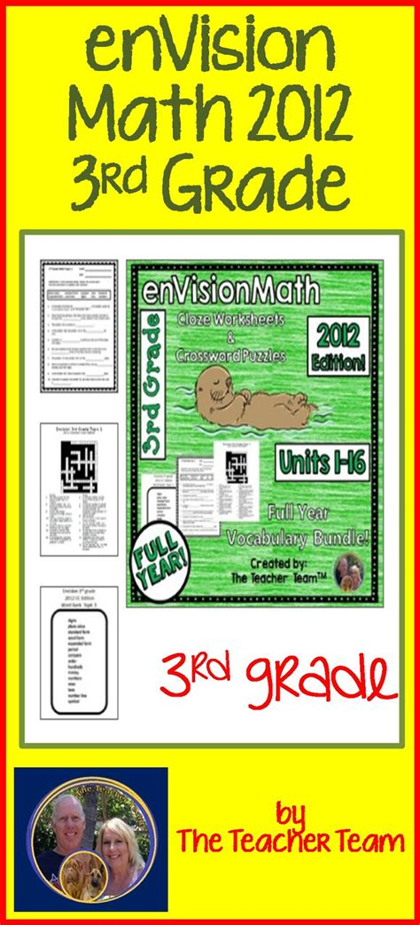 Envision Math 3rd Grade Worksheets by Envision Math 3rd Grade Common 2012 Vocabulary
