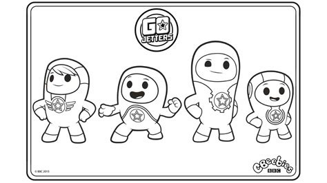 go coloring page go jetters cbeebies australia cbeebies colouring