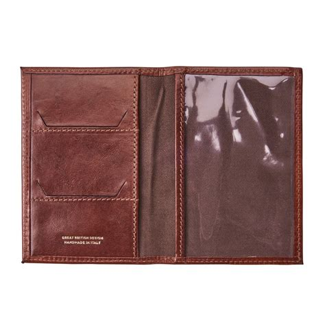 Passport Holder Mirror Quality Limited the prato quality leather passport holder