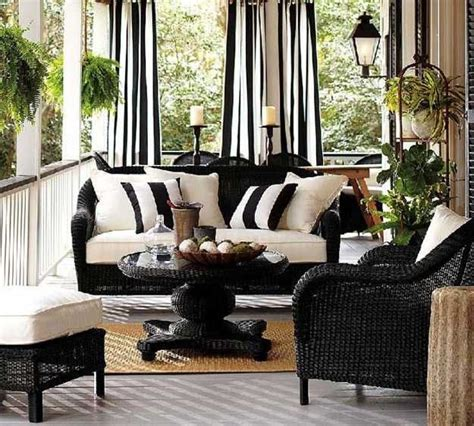 Design Ideas For Black Wicker Outdoor Furniture Concept 22 Porch Gazebo And Backyard Patio Ideas Creating Beautiful Outdoor Rooms In Summer Beautiful