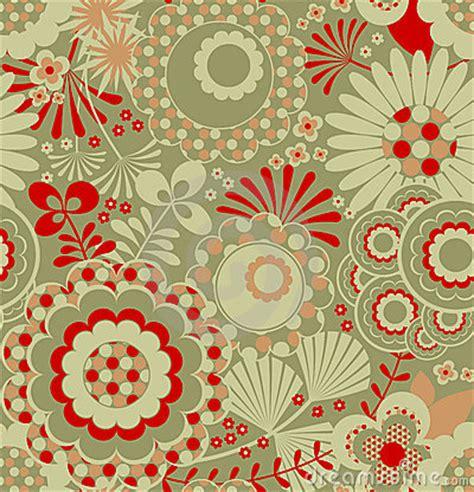 seamless retro wallpaper pattern royalty  stock