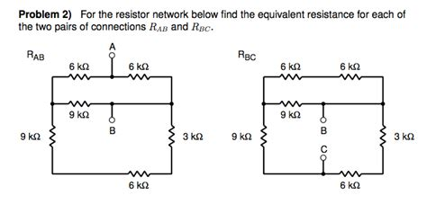 equivalent resistor network for the resistor network below find the equivalent chegg