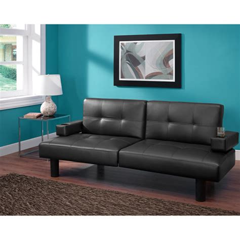 Walmart Black Faux Leather Futon by Mainstays Connectrix Futon Colors Walmart