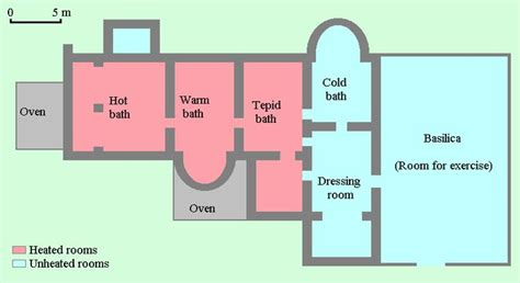 layout of roman house roman bathhouse layout places i want to be pinterest