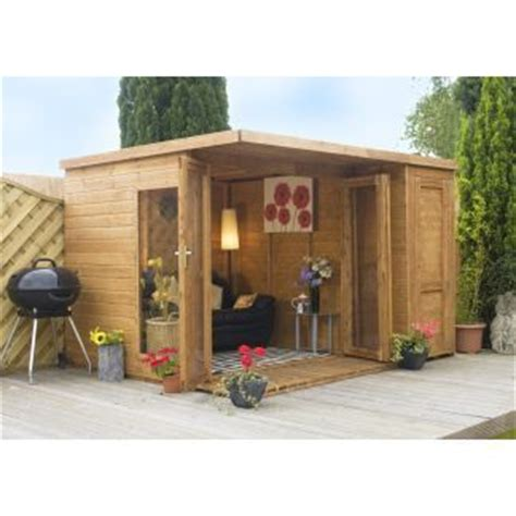 summer houses garden room with side shed 10ft x 8ft