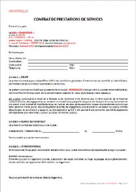 Modele Contrat Prestation Service