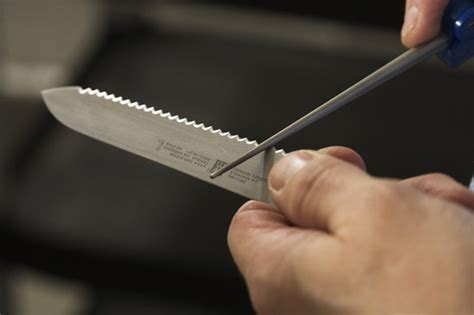 how to sharpen serrated kitchen knives if interested you can off course learn to sharpen serrated