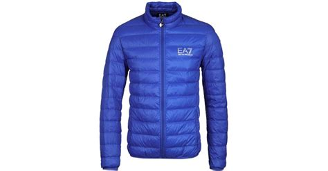 pack away cycling jacket ea7 royal blue lightweight padded pack away jacket in blue