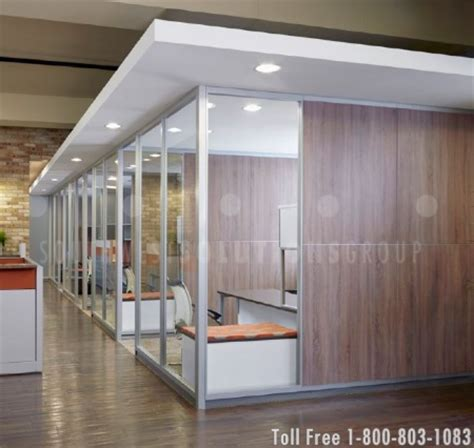 bank  modular walls  create private offices
