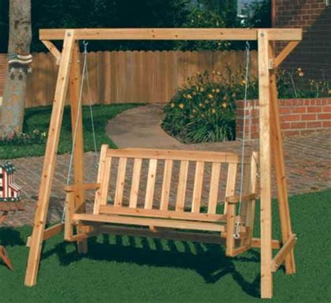 swinging garden bench rustic russian pine wood chair swing garden bench
