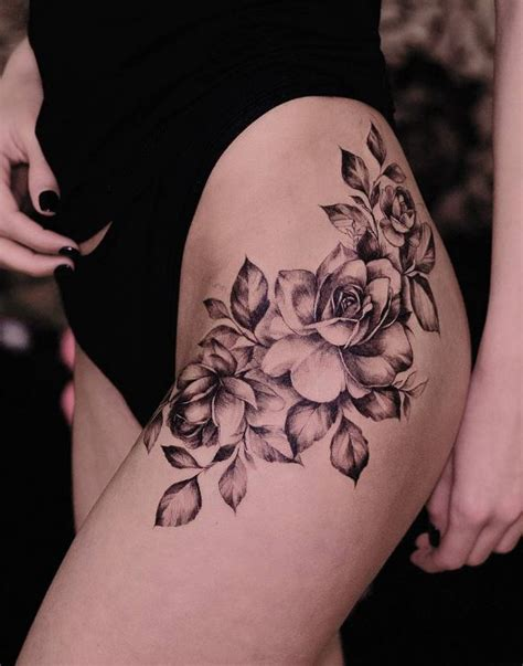 black and gray roses tattoo inkstylemag inkstylemag