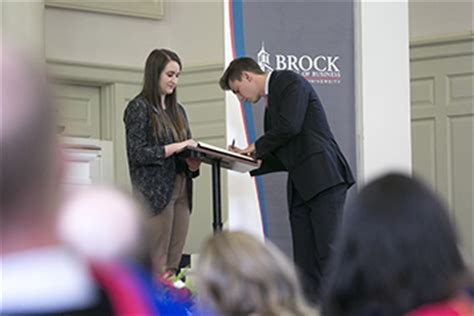 Brock Mba Tuition by Students Inducted Into Brock School Of Business In Annual