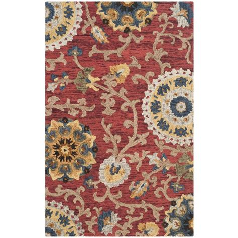 Safavieh Blossom Rug Safavieh Blossom Multi 5 Ft X 8 Ft Area Rug Blm401c 5 The Home Depot