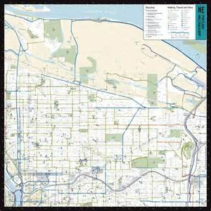 portland oregon bike map northeast portland bike walk map maplets