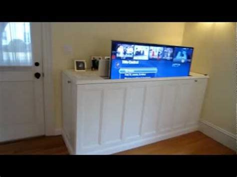 diy home theatre tv lift cabinet lifehacker australia