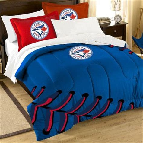 baseball bedding full northwest co mlb blue jays contrast 3 piece twin full
