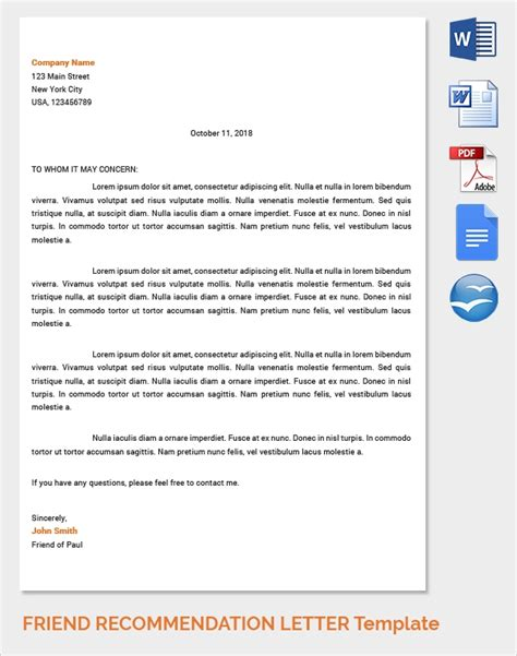sample reference letter templates ms