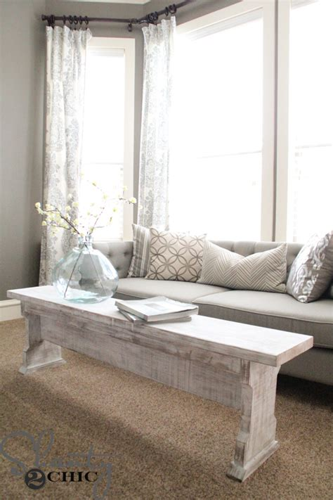 coffee table bench diy diy coffee table or bench shanty 2 chic