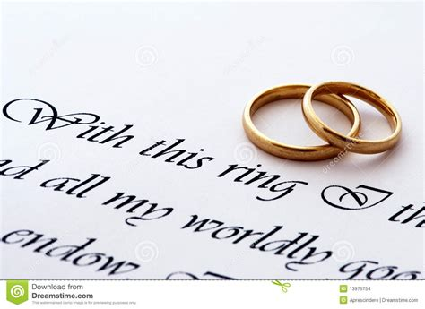 wedding rings and vow stock images image 13976754
