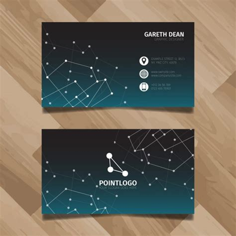 Technology Business Card Design Vector Free Download Tech Business Card Template